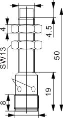 圆柱型电感式接近开关 M8