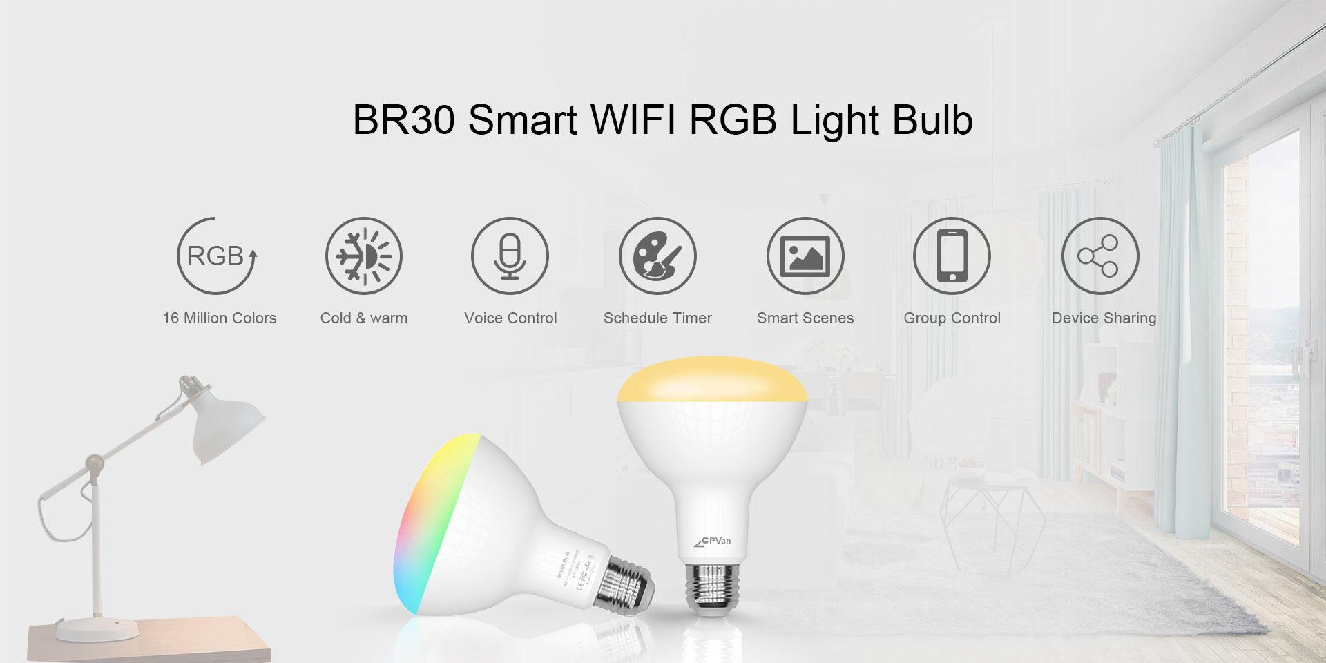 BR30 Smart RBG Light Bulb