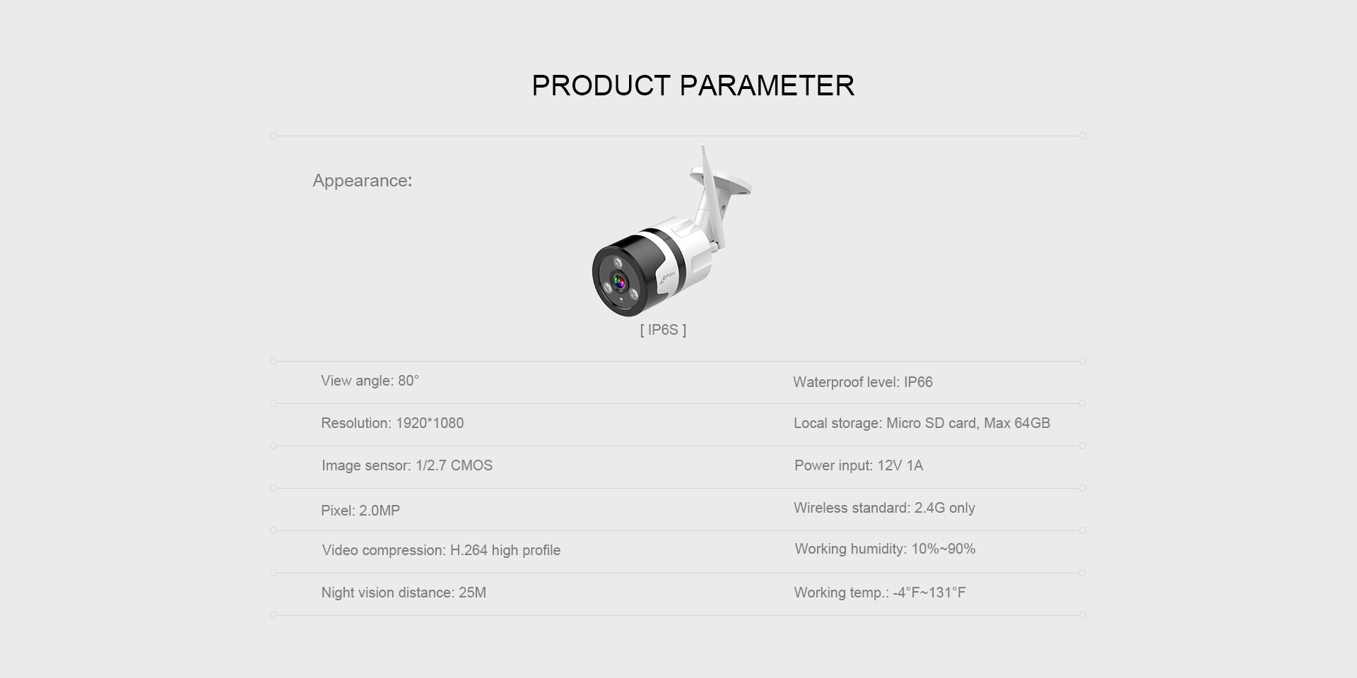 1080P Outdoor Bullet Camera