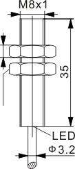 全金属封装电感式接近开关 M8