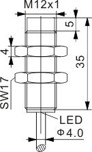 全金属封装电感式接近开关 M12