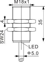 全金属封装电感式接近开关 M18