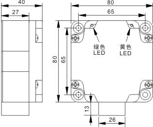 方型电感式接近开关 Q80
