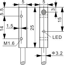 方型电感式接近开关 Q5