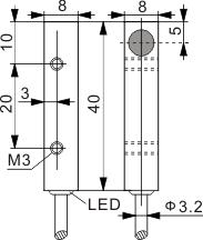 方型电感式接近开关 Q8