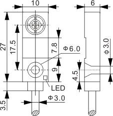 方型电感式接近开关 Q10
