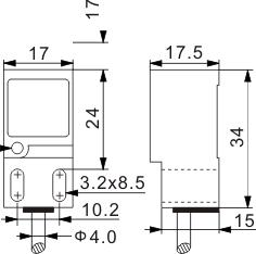 方型电感式接近开关 Q17