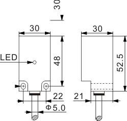 方型电感式接近开关 Q30