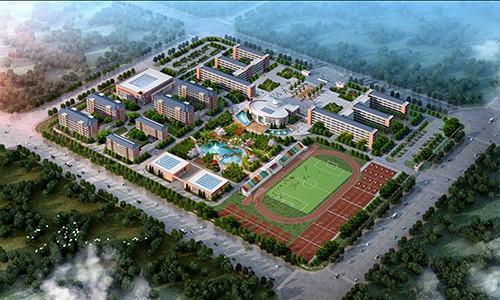 毛坦厂中学东部新城校区鸟瞰图