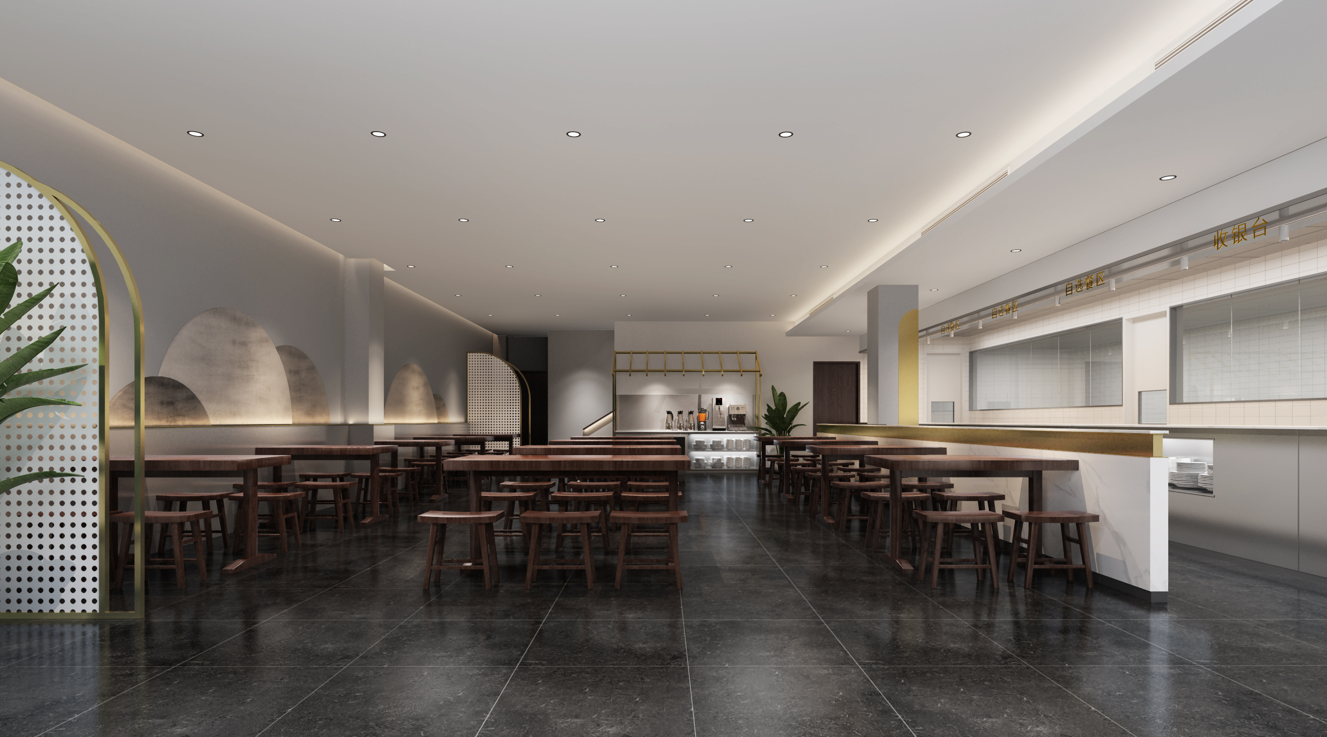 开封蓝城集团餐厅室内设计项目
