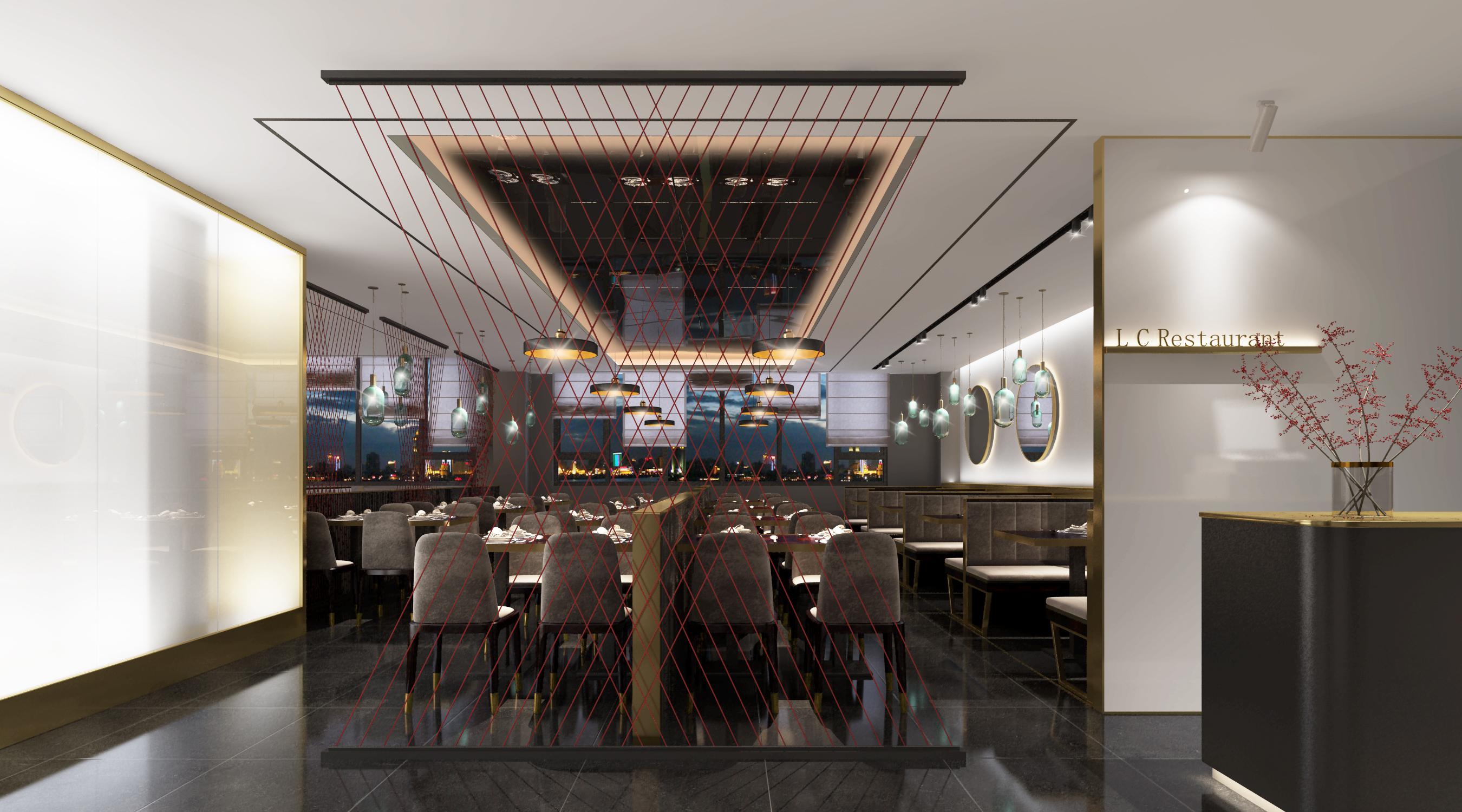 开封蓝城集团餐厅房间内部策划porject