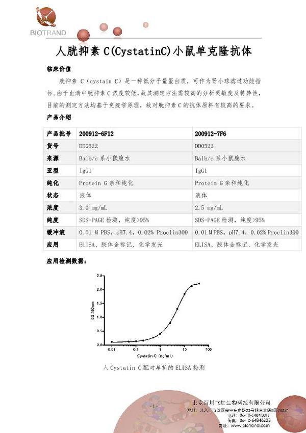 人胱抑素C鼠单抗