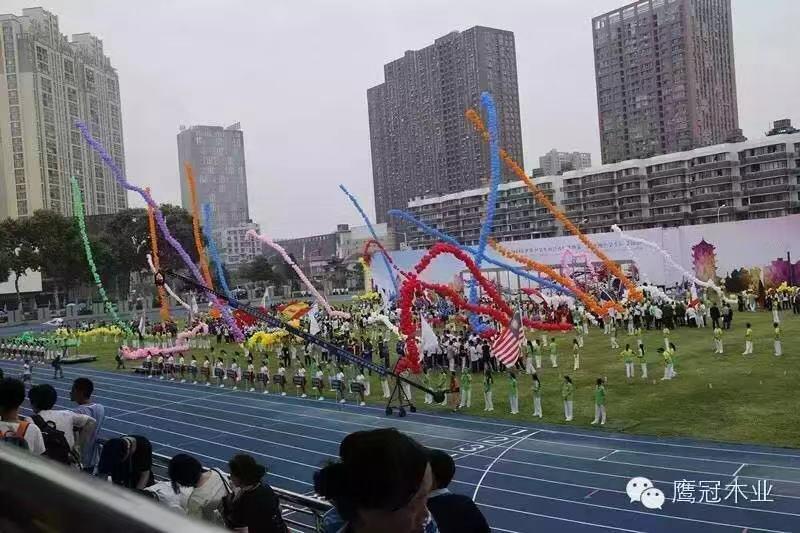 鹰冠品牌见证2015世中田赛盛大开幕