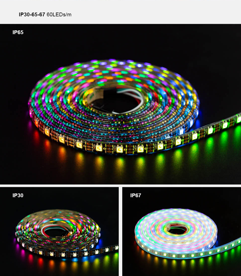 Sk6812rgb slide color LED strip specification and installation matters