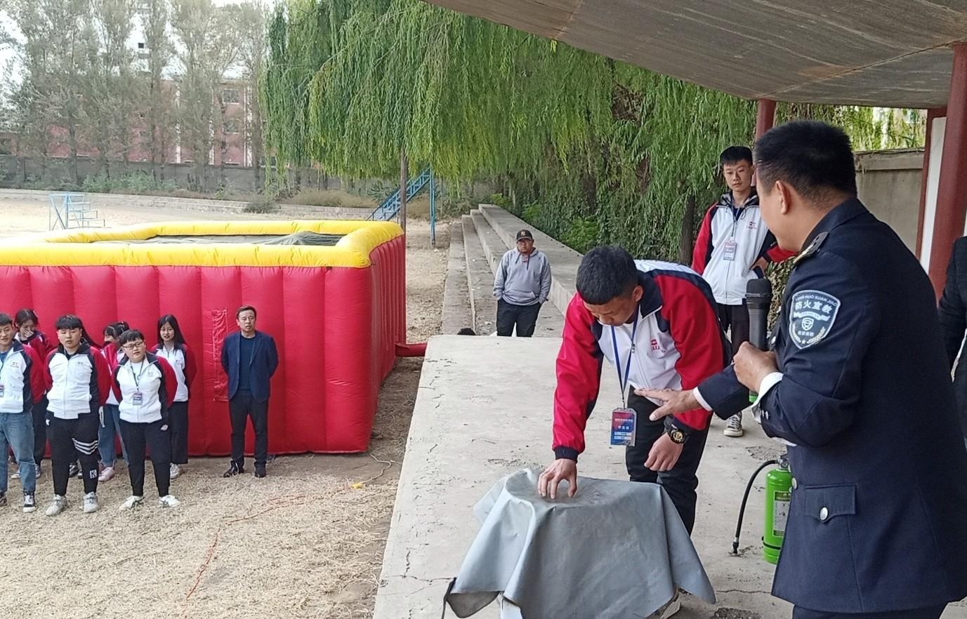 朝阳分中心为朝阳市财经学校举行雷电竞官方网站知识讲座及应急疏散演练