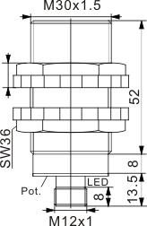电容式接近开关 M30