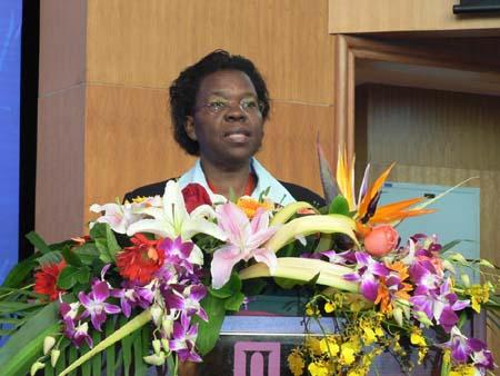 Victoria Sekitoleko宣读联合国潘基文的贺信