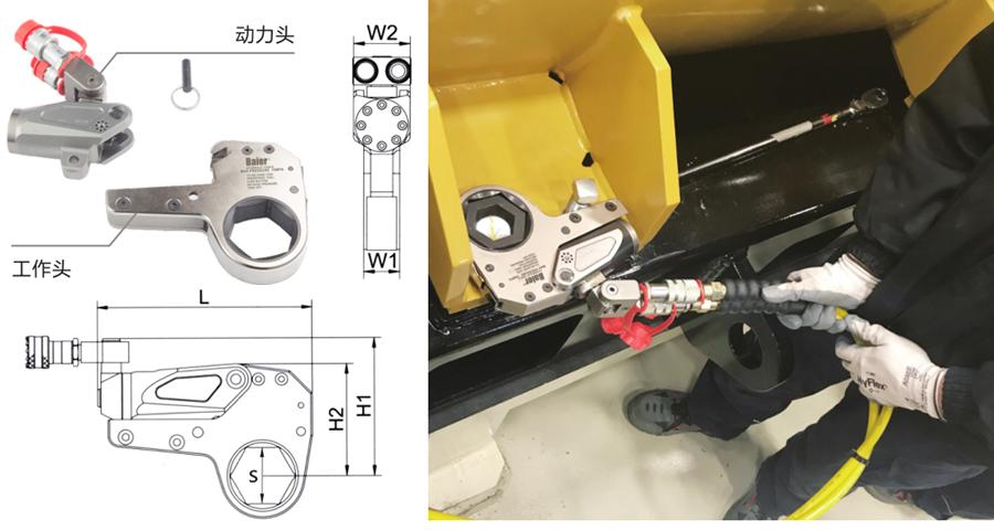 RTF系列--超薄中空式液压扳手