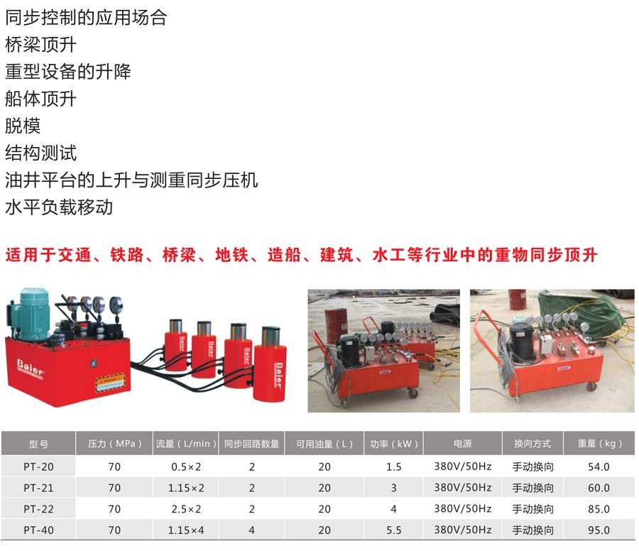 PT系列--同步电动液压泵