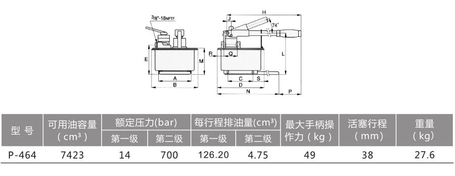 大容量手动泵