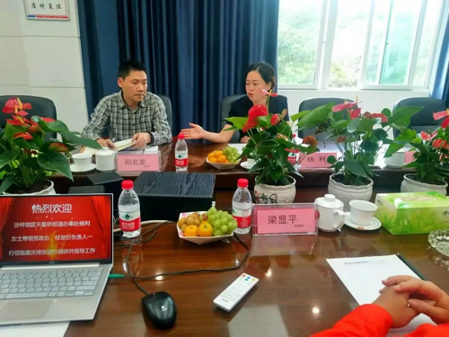 重庆市沙坪坝区天星桥街道办事处领导调研重庆博张