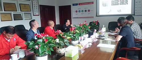 Leaders of tianxingqiao sub district office of Shapingba District of Chongqing investigate Chongqing