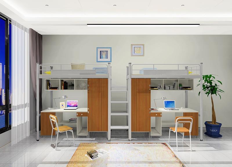六边形立柱连体公寓床