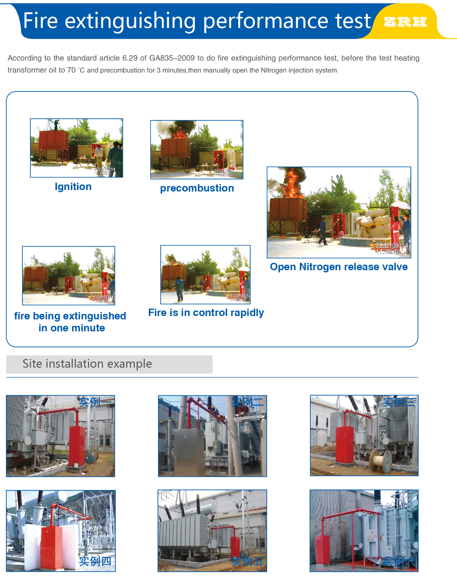 Oil Evacuation and Nitrogen Injection Extinguishing Equipment for Oil-immersed Transformer