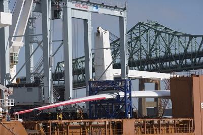 GE Haliade-X 12 MW涡轮叶片抵达波士顿进行测试