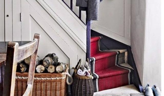 楼梯处地毯的铺设