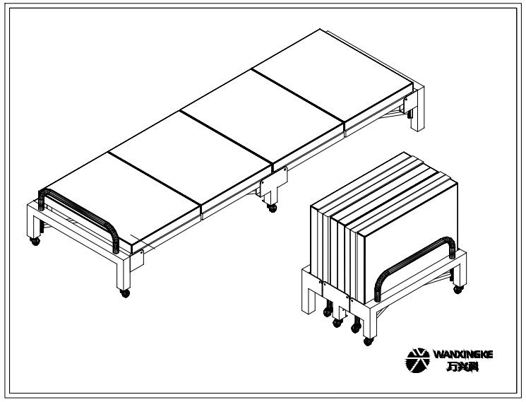 四折折叠床
