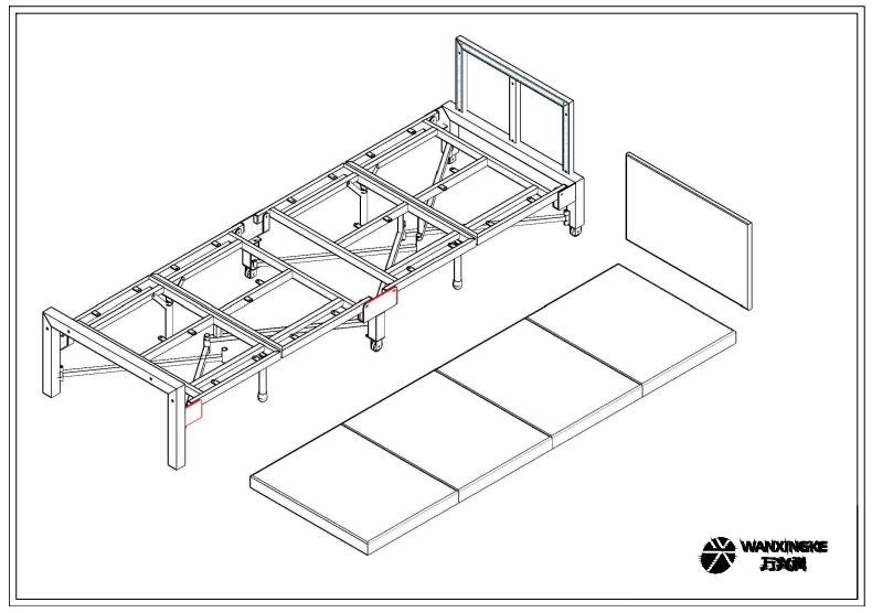 四折折叠床-带靠背