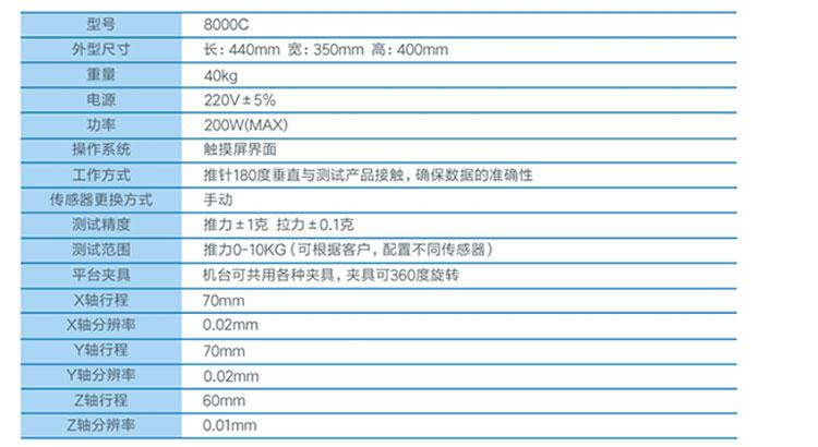 8000C多功能推拉力测试仪