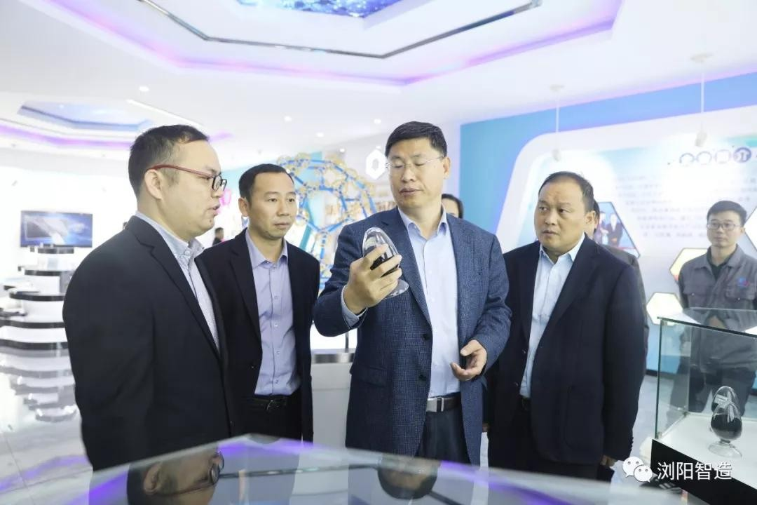北京石墨烯研究院院长刘忠范一行来纬来体育篮球直播烯碳考察
