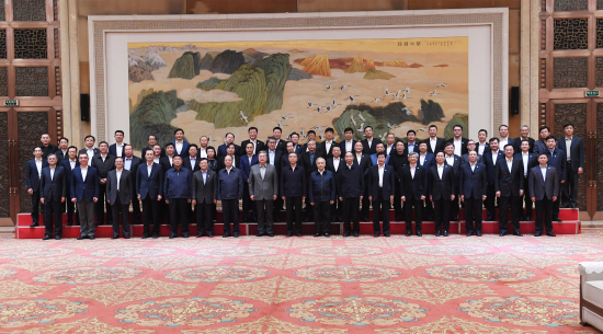 中共中央政治局常委汪洋接见吴一坚总裁