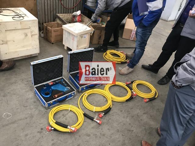 BAIER拜尔液压扳手让客户现场用的更安全更无后顾之忧!