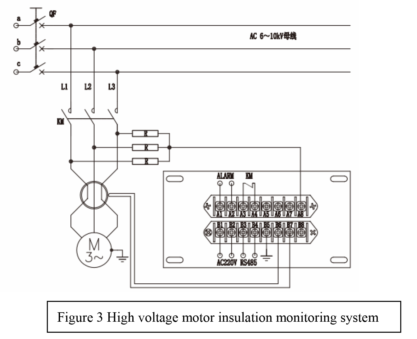High Voltage Motor Insulation On-Line Monitoring System