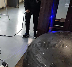 Reverse detection of 3D scanning of mold