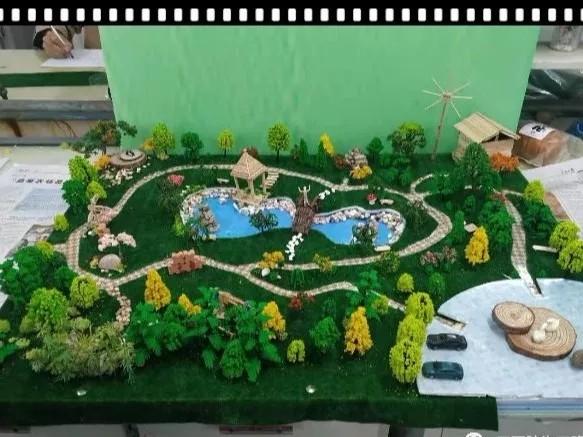"""三门峡职院食品园林BB平台18级园林""""小游园""""模型制作大赛圆满落幕"""
