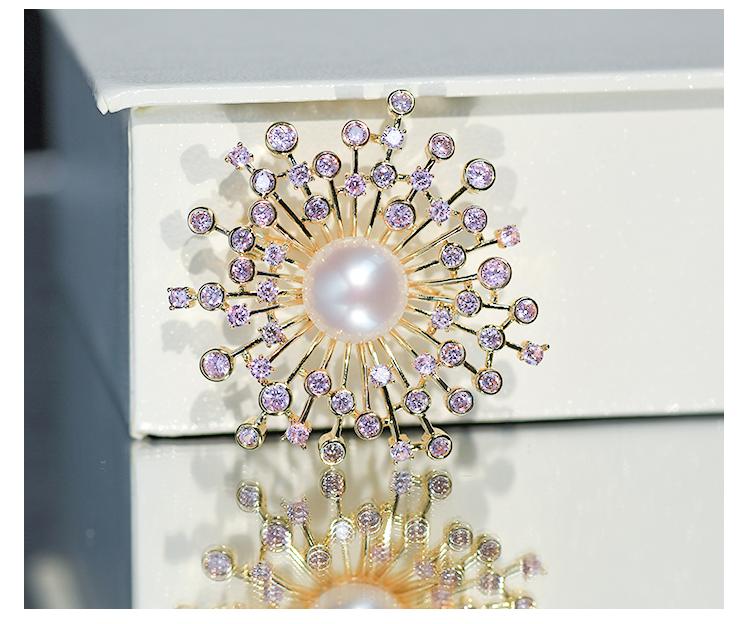 浅紫色太阳花胸针