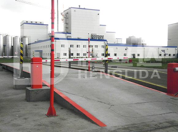 乐山3*12米100吨无人值守系统地磅安装成功