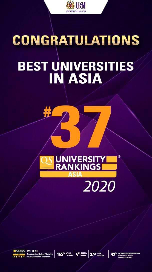 马来西亚理科大学跻身亚洲大学40强