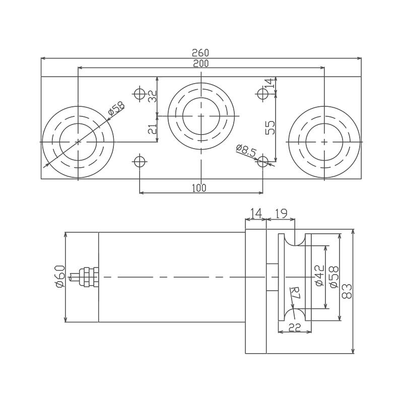 TK系列三滚轮式张力传感器 (型号:TK)