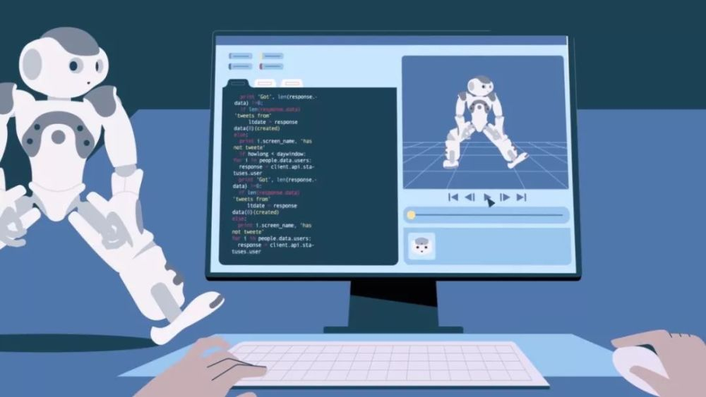 MG动画制作人工智能类,很贴合当前的热点主题