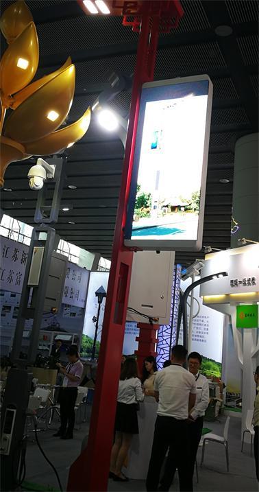 奥马哈P4灯杆显示屏点亮上海中兴科技园