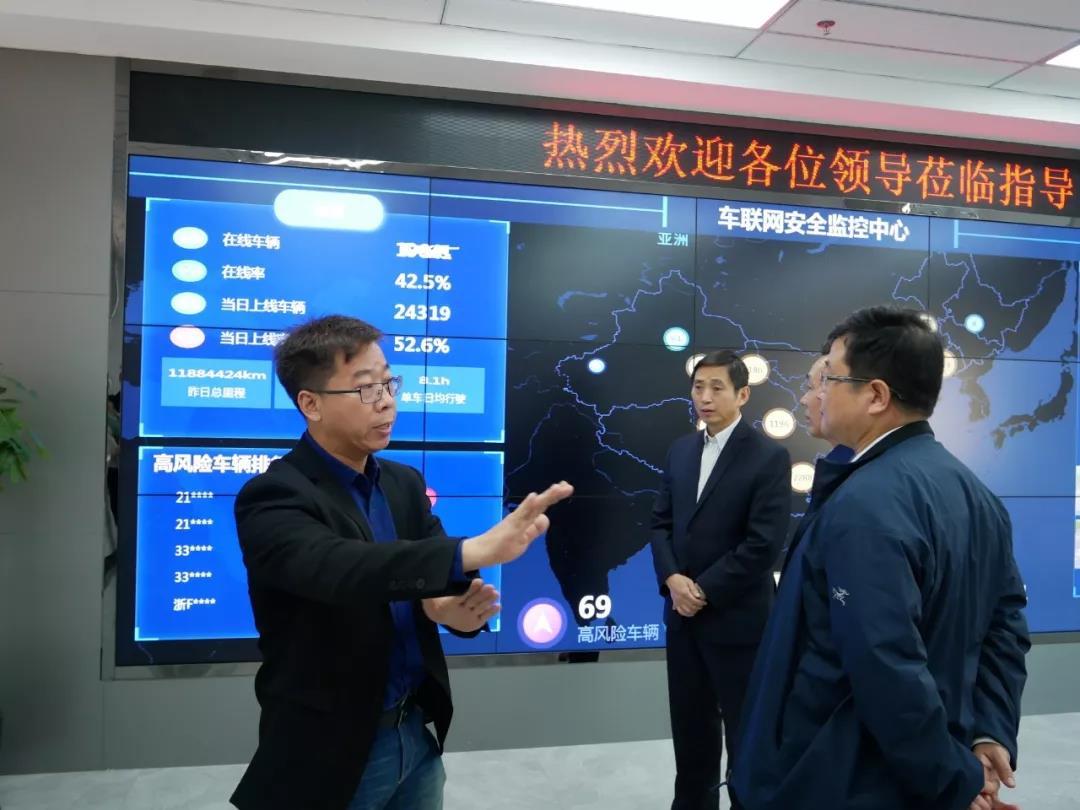 省工信厅领导调研省智能网联汽车创新中心进展,重点考察我司产品