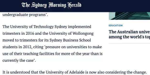 重磅!UNSW之后,多所澳洲大学或开启3学期制!