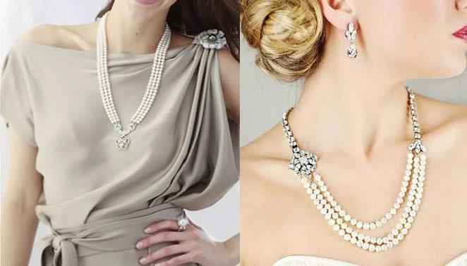 打造优雅女性的珍珠项链戴法