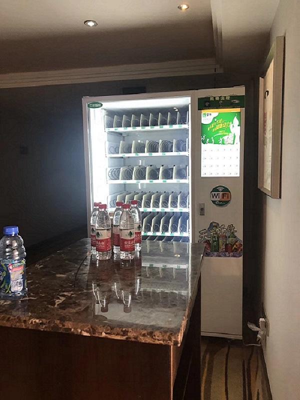 自动售货机应该怎么进入酒店?
