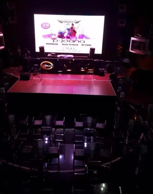 中山乔安娜西餐厅P4全彩显示屏由奥马哈单元板